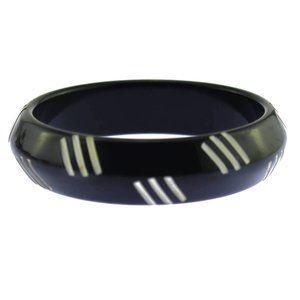 Black and White Bangle Bracelet